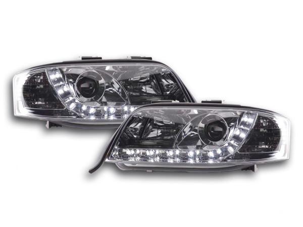 Scheinwerfer Set Daylight LED TFL-Optik Audi A6 Typ 4B 97-01 chrom