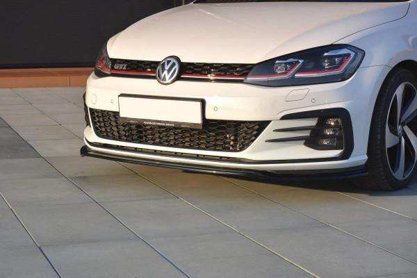 Front Ansatz V.2 Für VW GOLF 7 GTI FACELIFT Schwarz Matt
