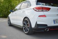 Seitenschweller Ansatz Für V.1 Für Hyundai I30 N Mk3 Hatchback / Fastback Schwarz Hochglanz