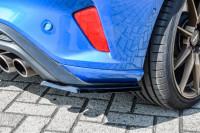Heckansatz Seitenteile für Ford Focus DEH ST-Line Bj. 2018- Ausführung: Matt schwarz