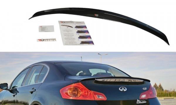 Spoiler CAP Passend Für Infiniti G37 Limousine Schwarz Matt