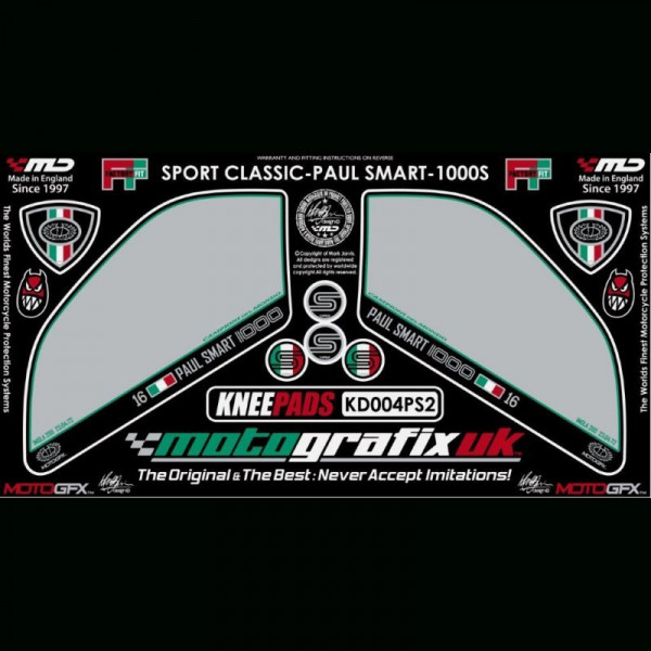 Motografix Tankschutz Knie Pads Ducati Sport Classic 1000 / S KD004PS2
