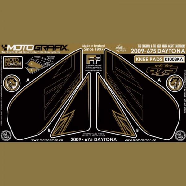 Motografix Tankschutz Knie Pads Triumph Daytona 675 2009- KT003KA
