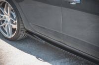 Seitenschweller Ansatz Für V.5 Seat Leon Cupra / FR Mk3 FL Schwarz Matt