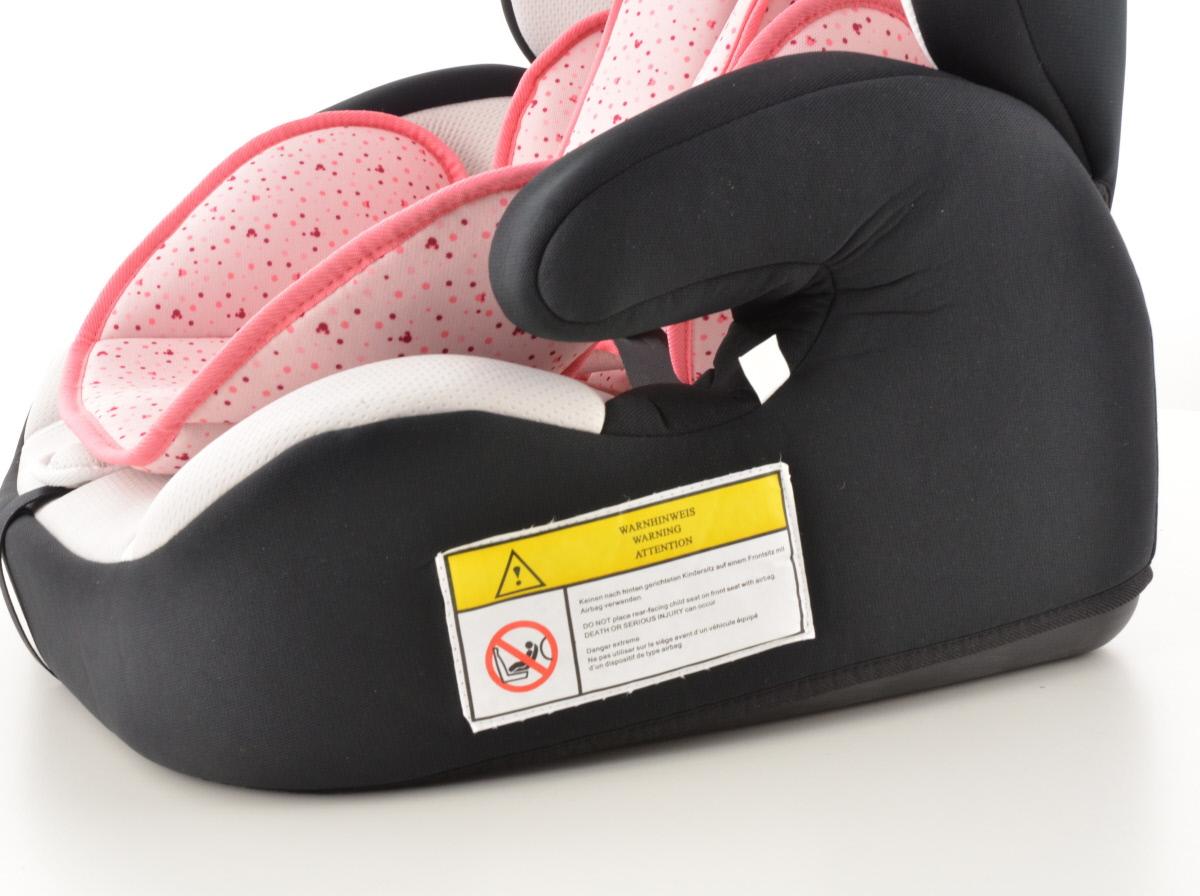 kinderautositz kindersitz autositz schwarz wei pink. Black Bedroom Furniture Sets. Home Design Ideas