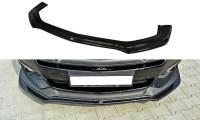 Front Ansatz Passend Für Ford Mustang GT Mk6 Schwarz Hochglanz
