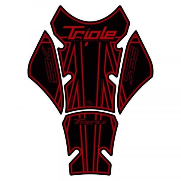 Motografix Triumph Street Triple 765 3D Gel Tank Pad Protector TT032RK