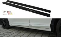 Seitenschweller Ansatz Passend Für Honda Civic Mk9 Facelift Schwarz Hochglanz