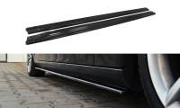 Seitenschweller Ansatz Passend Für Audi S4 / A4 / A4 S-Line B8 / B8 FL Schwarz Matt