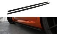 Seitenschweller Ansatz Passend Für Ford Focus ST Mk2 FL Schwarz Matt
