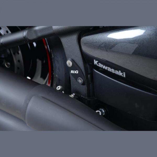 R&G hintere Fußrastenabdeckung Set Kawasaki Vulcan VN 900 Custom '07-