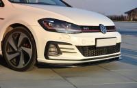 Front Ansatz Für VW GOLF 7 GTI FACELIFT V.1 Schwarz Hochglanz