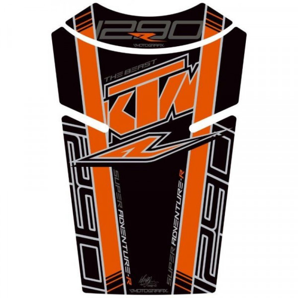 Motografix KTM 1290 Super Adventure R Factory 3D Gel Tank Pad Protector TKTM08K
