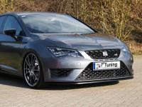 Cup Frontspoilerlippe für Seat Leon 3 5F ab Bj. 2012- Ausführung: Matt schwarz
