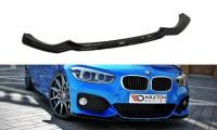 Front Ansatz Passend Für V.1 BMW 1er F20/F21 M-Power FACELIFT Schwarz Matt