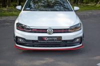 Front Ansatz V.2 Für VW POLO MK6 GTI Schwarz Hochglanz