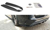 Heck Ansatz Flaps Diffusor Passend Für Mercedes C-Klasse S205 63 AMG Kombi Schwarz Hochglanz