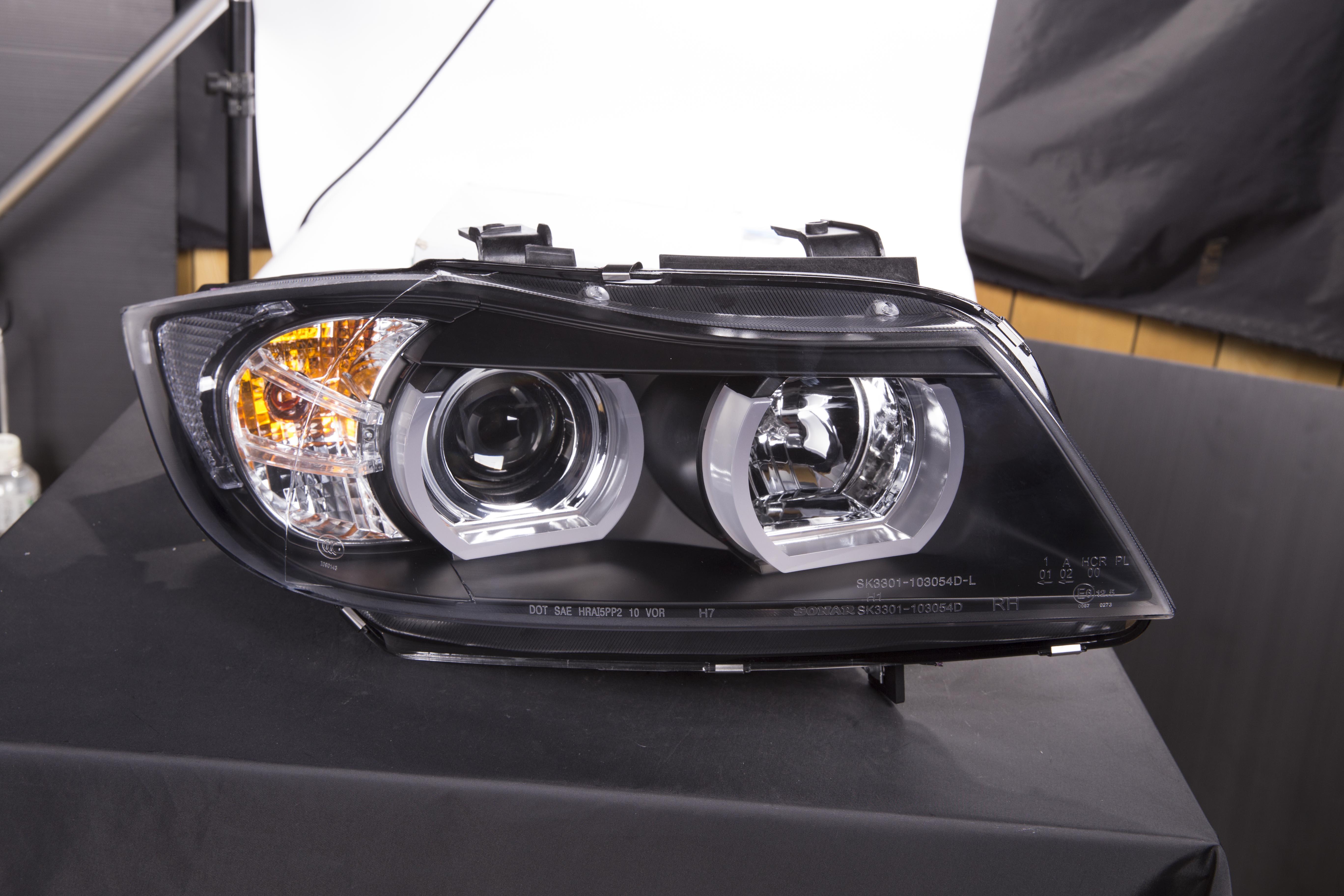 scheinwerfer set xenon daylight led tfl optik bmw 3er e90. Black Bedroom Furniture Sets. Home Design Ideas
