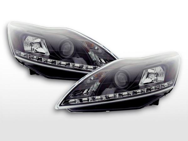 Scheinwerfer Set Daylight LED TFL-Optik Ford Focus 3/5-trg. 08- schwarz