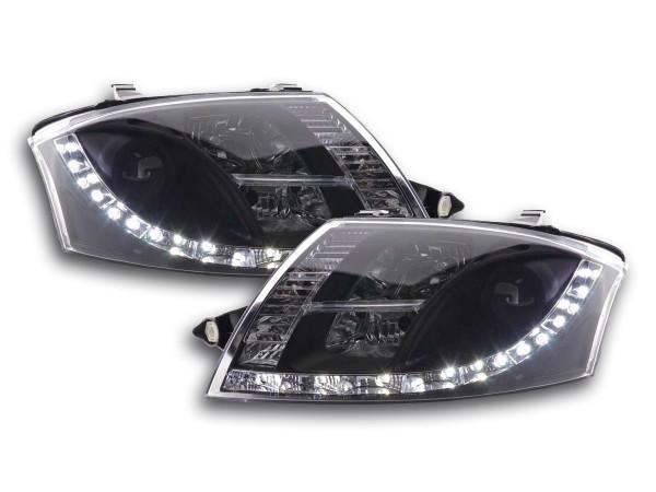 Scheinwerfer Set Daylight LED TFL-Optik Audi TT Typ 8N 99-06 schwarz