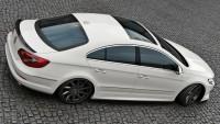 Seitenschweller Ansatz Für VW Passat CC R36 RLINE (vor Facelift) Schwarz Hochglanz