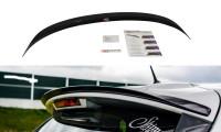 Spoiler CAP Passend Für Renault Clio Mk4 Schwarz Hochglanz