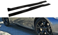 Seitenschweller Ansatz Passend Für Nissan 370Z Schwarz Hochglanz
