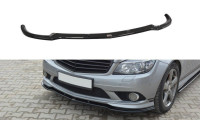 Front Ansatz Passend Für Mercedes C W204 AMG-Line (vor Facelift) Carbon Look