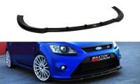 Front Ansatz Passend Für V.1 Ford Focus RS Mk2 Schwarz Matt