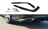 Heck Ansatz Flaps Diffusor Passend Für Lexus GS Mk4 Facelift T Schwarz Hochglanz