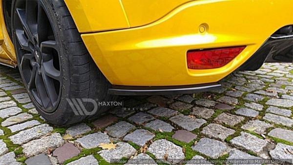 Heck Ansatz Flaps Diffusor Passend Für RENAULT MEGANE 3 RS Carbon Look
