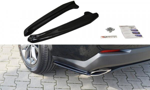 Heck Ansatz Flaps Diffusor Passend Für Lexus NX Mk1 T Schwarz Hochglanz