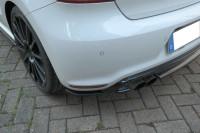 Heck Ansatz Flaps Diffusor Passend Für VOLKSWAGEN POLO MK5 R WRC Schwarz Hochglanz