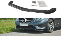 Front Ansatz Passend Für V.1 Mercedes E W212 Schwarz Hochglanz