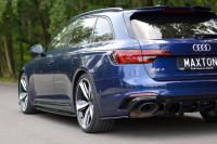 Heck Ansatz Flaps Diffusor Für Audi RS4 B9 Avant Schwarz Hochglanz