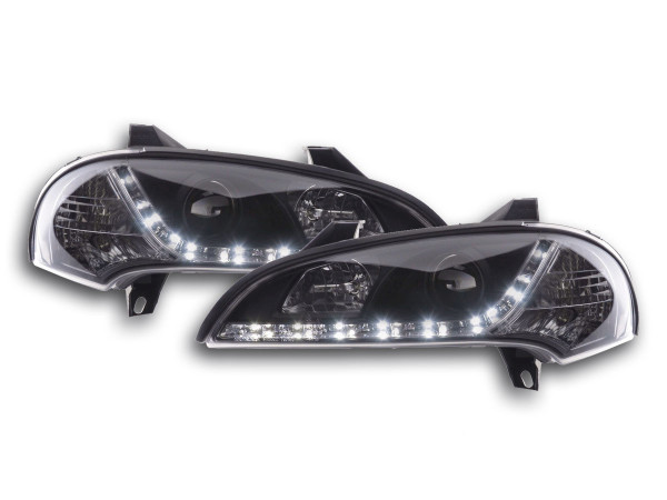 Scheinwerfer Set Daylight LED TFL-Optik Opel Tigra Bj. 95-03 schwarz