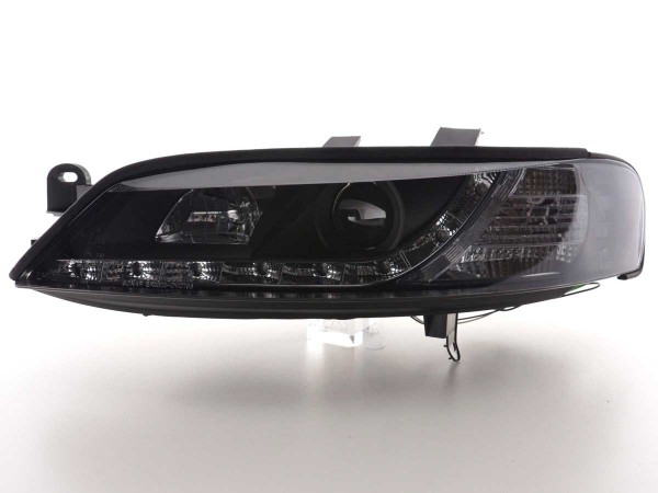 Scheinwerfer Set Daylight LED TFL-Optik Opel Vectra B Bj. 96-99 schwarz