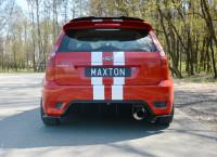 Heck Ansatz Flaps Diffusor Für Ford Fiesta ST Mk6 Schwarz Matt