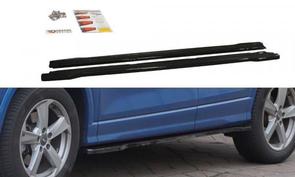 Seitenschweller Ansatz Passend Für Audi Q2 Mk.1 Schwarz Hochglanz