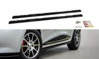 Seitenschweller Ansatz Passend Für Renault Clio Mk4 Schwarz Hochglanz