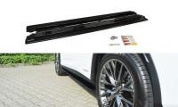 Seitenschweller Ansatz Passend Für Lexus RX Mk4 Schwarz Hochglanz