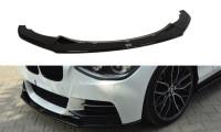 Front Ansatz Passend Für BMW 1er F20/F21 M-Power (vor Facelift) Schwarz Hochglanz