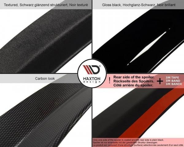 Spoiler CAP Passend Für SEAT IBIZA 4 SPORTCOUPE (vor Facelift) Schwarz Matt
