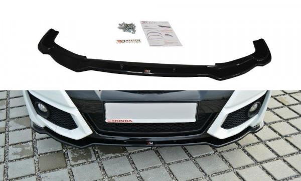 Front Ansatz Passend Für Honda Civic Mk9 Facelift Schwarz Matt