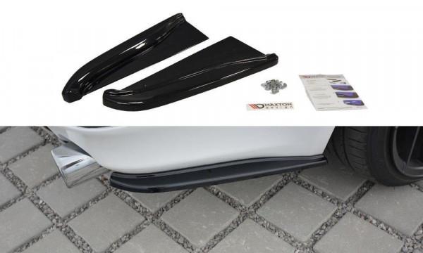 Heck Ansatz Flaps Diffusor Passend Für Lexus IS Mk2 Schwarz Matt