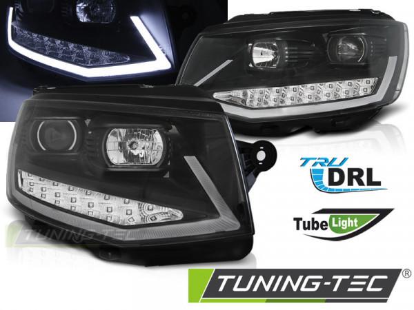 Scheinwerfer Röhrenlicht DRL schwarz chrom passend für VW T6 15-19
