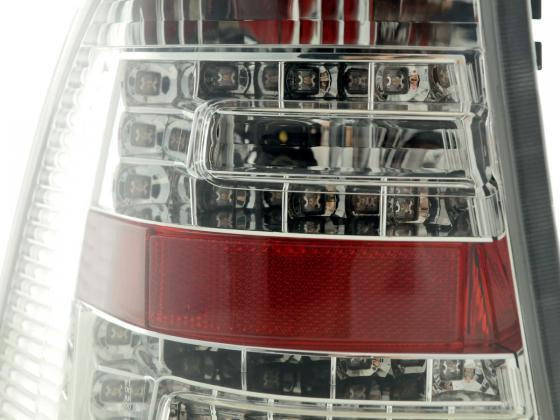 LED Rückleuchten Set Mercedes M-Klasse Typ W163 Bj. 98-05 chrom