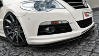 Front Ansatz Für VW Passat CC R36 RLINE (vor Facelift) Schwarz Hochglanz