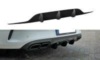 Diffusor Heck Ansatz Passend Für Mercedes C-Klasse C205 63 AMG Coupe Schwarz Hochglanz