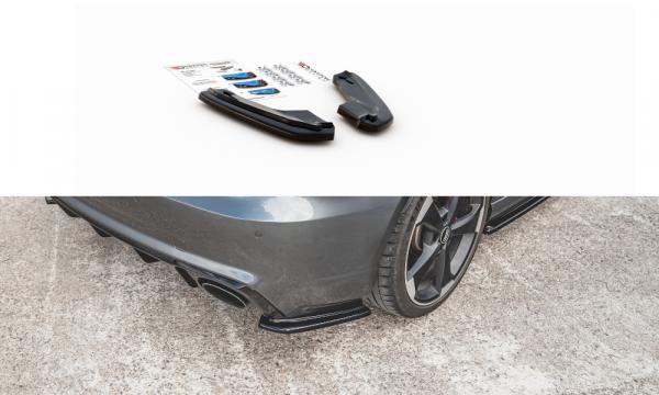 Heck Ansatz Flaps Diffusor Passend Für V.1 Audi RS3 8V Sportback Carbon Look